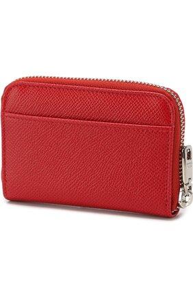 Кожаный кошелек на молнии с тиснением Dauphine   Фото №2