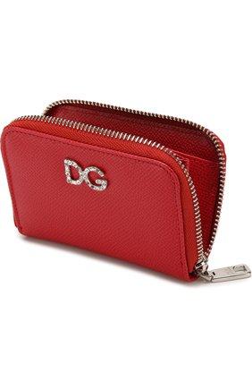 Кожаный кошелек на молнии с тиснением Dauphine   Фото №3
