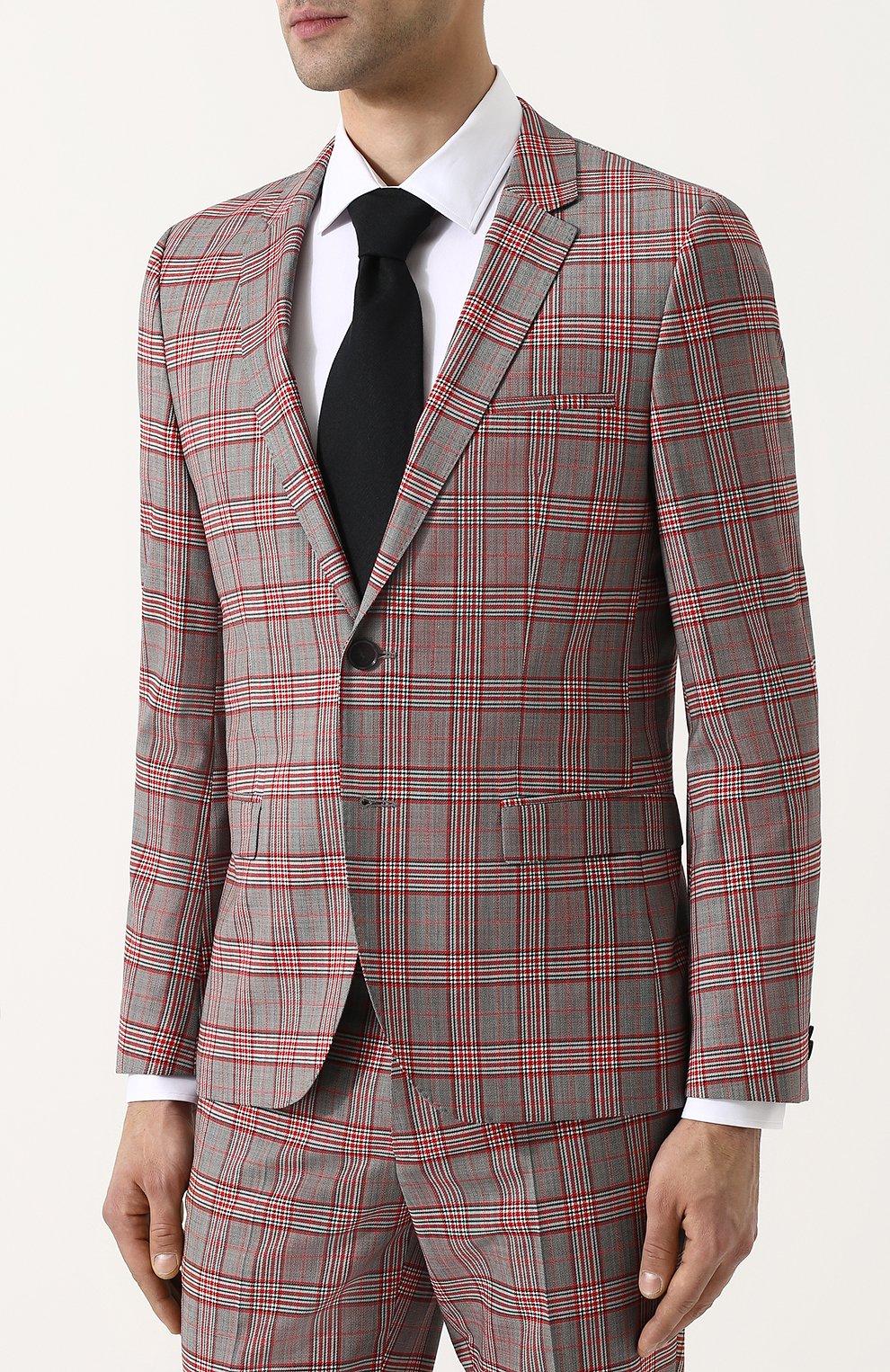 05056427bf30 Шерстяной костюм с пиджаком на двух пуговицах