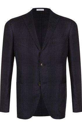 Однобортный пиджак из смеси кашемира и шелка | Фото №1