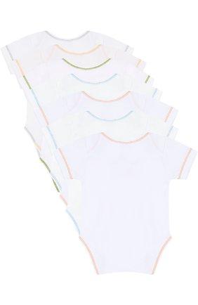 Хлопковый комплект из семи боди Kissy Kissy бежевого цвета | Фото №1