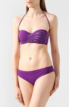 Женский однотонный бра с пайетками LA PERLA фиолетового цвета, арт. 001044D   Фото 2