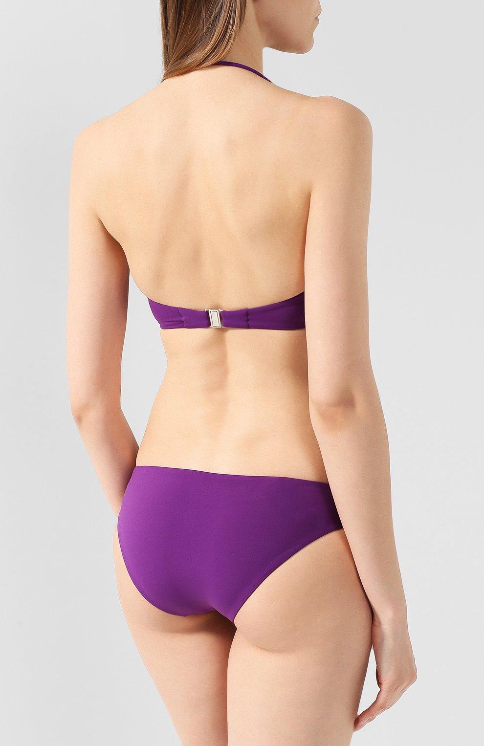 Женский однотонный бра с пайетками LA PERLA фиолетового цвета, арт. 001044D   Фото 3