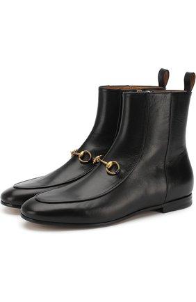 Кожаные ботинки Jordaan с пряжкой-трензелем | Фото №1