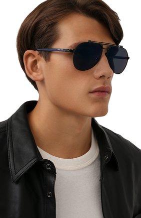 Мужские солнцезащитные очки DOLCE & GABBANA синего цвета, арт. 2189-01/96   Фото 2