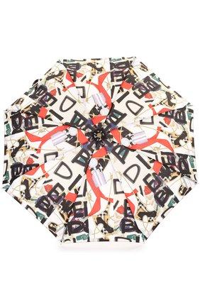 Складной зонт с принтом Burberry черный | Фото №1