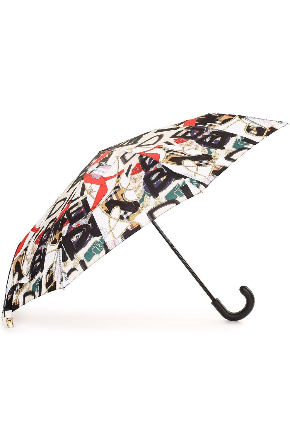 Складной зонт с принтом Burberry черный | Фото №2