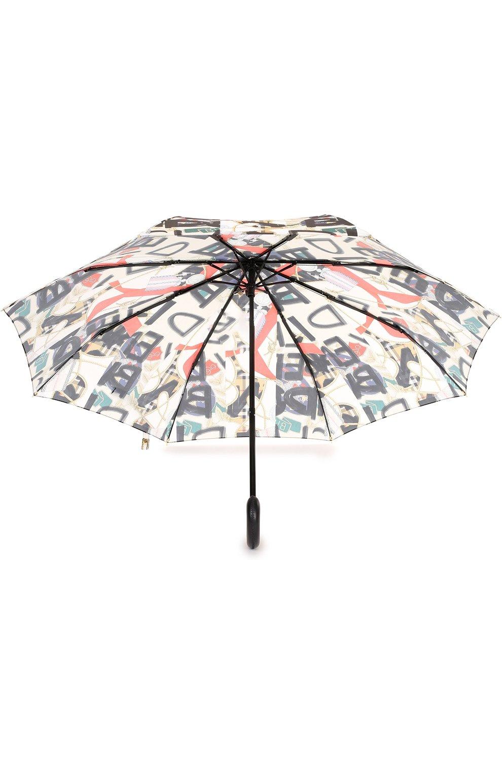 Складной зонт с принтом Burberry черный | Фото №3