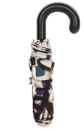 Складной зонт с принтом Burberry черный | Фото №5