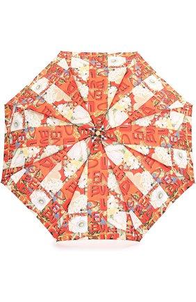 Женский складной зонт с принтом BURBERRY красного цвета, арт. 4075320 | Фото 1