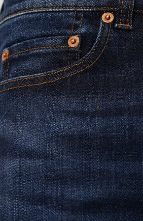 Джинсы прямого кроя Valentino темно-синие | Фото №5