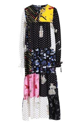 Платье свободного кроя с принтом Loewe разноцветное | Фото №1