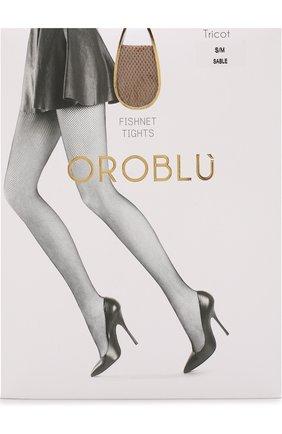 Женские капроновые колготки в сетку OROBLU светло-бежевого цвета, арт. V0BC01033 | Фото 1