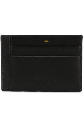 Мужской кожаный футляр для кредитных карт CANALI черного цвета, арт. P311410/NA00051 | Фото 1