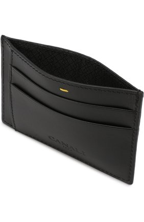 Мужской кожаный футляр для кредитных карт CANALI черного цвета, арт. P311410/NA00051 | Фото 2