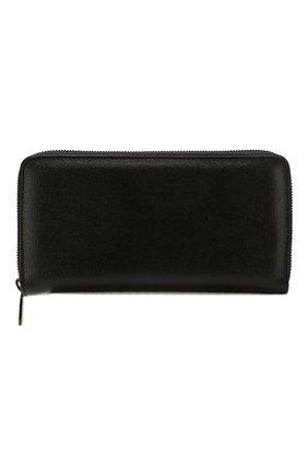 Кожаное портмоне на молнии с отделениями для кредитных карт | Фото №1