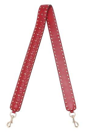 Кожаный ремень для сумки Valentino Garavani Rockstud Spike | Фото №1