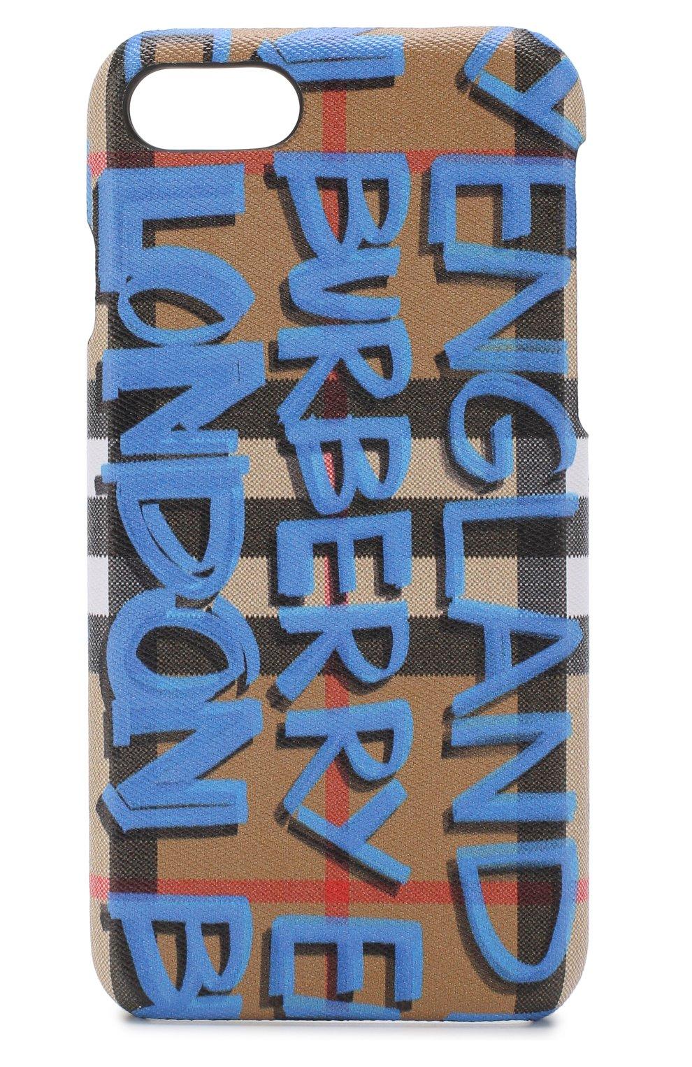 Кожаный чехол для iPhone 7/8 Burberry  | Фото №1