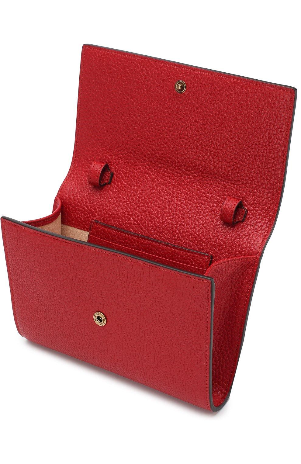 Женская клатч animalier bee GUCCI красного цвета, арт. 498097/A7M0T | Фото 4