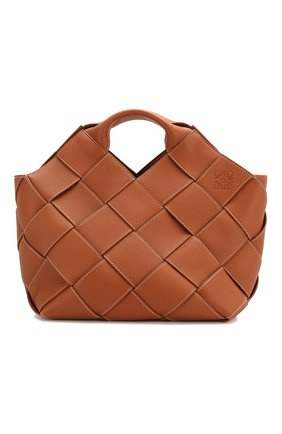 Женская сумка woven LOEWE светло-коричневого цвета, арт. 321.12.L62 | Фото 1