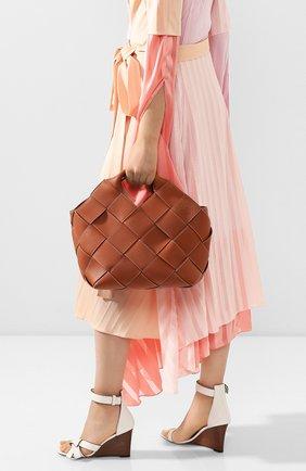 Женская сумка woven LOEWE светло-коричневого цвета, арт. 321.12.L62 | Фото 2