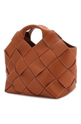 Женская сумка woven LOEWE светло-коричневого цвета, арт. 321.12.L62 | Фото 3