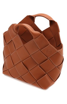 Женская сумка woven LOEWE светло-коричневого цвета, арт. 321.12.L62 | Фото 4