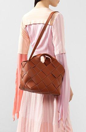 Женская сумка woven LOEWE светло-коричневого цвета, арт. 321.12.L62 | Фото 5