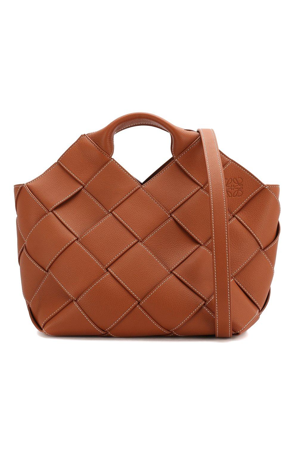 Женская сумка woven LOEWE светло-коричневого цвета, арт. 321.12.L62 | Фото 6