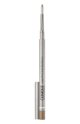 Женский супертонкий карандаш для бровей superfine liner, оттенок soft brown - 02 тон CLINIQUE бесцветного цвета, арт. K6MG-02 | Фото 1