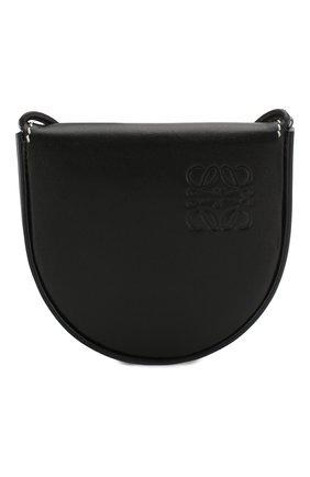 Женская сумка heel pouch loewe x paula's ibiza LOEWE черного цвета, арт. 109.54.T15   Фото 1 (Материал: Натуральная кожа; Размер: mini; Сумки-технические: Сумки через плечо)