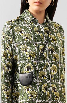 Женская сумка heel pouch loewe x paula's ibiza LOEWE черного цвета, арт. 109.54.T15   Фото 2 (Материал: Натуральная кожа; Размер: mini; Сумки-технические: Сумки через плечо)
