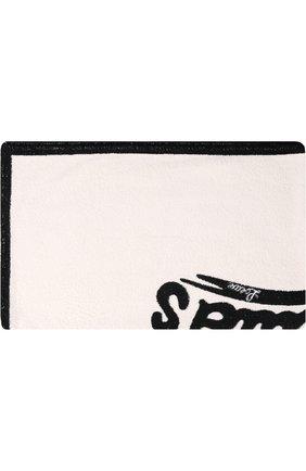 Хлопковое пляжное полотенце Loewe черно-белое | Фото №1