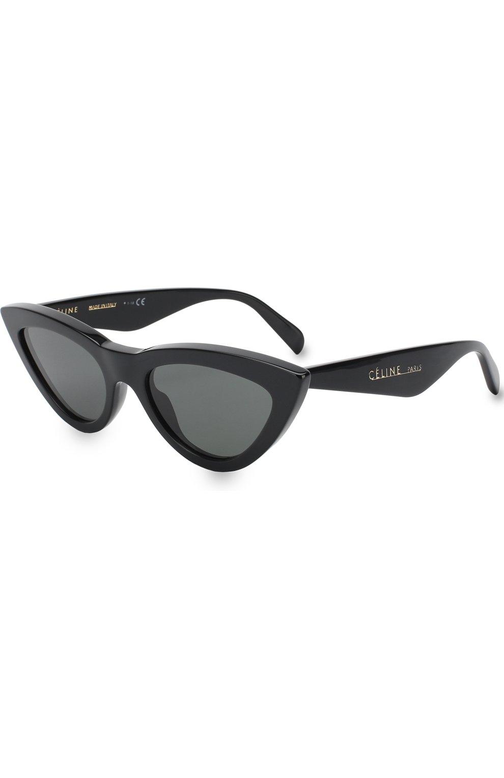 Женские солнцезащитные очки CELINE EYEWEAR черного цвета, арт. CL40019I 01N   Фото 1