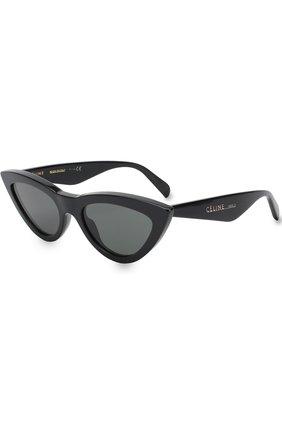 Мужские солнцезащитные очки CELINE EYEWEAR черного цвета, арт. CL40019I 01N | Фото 1