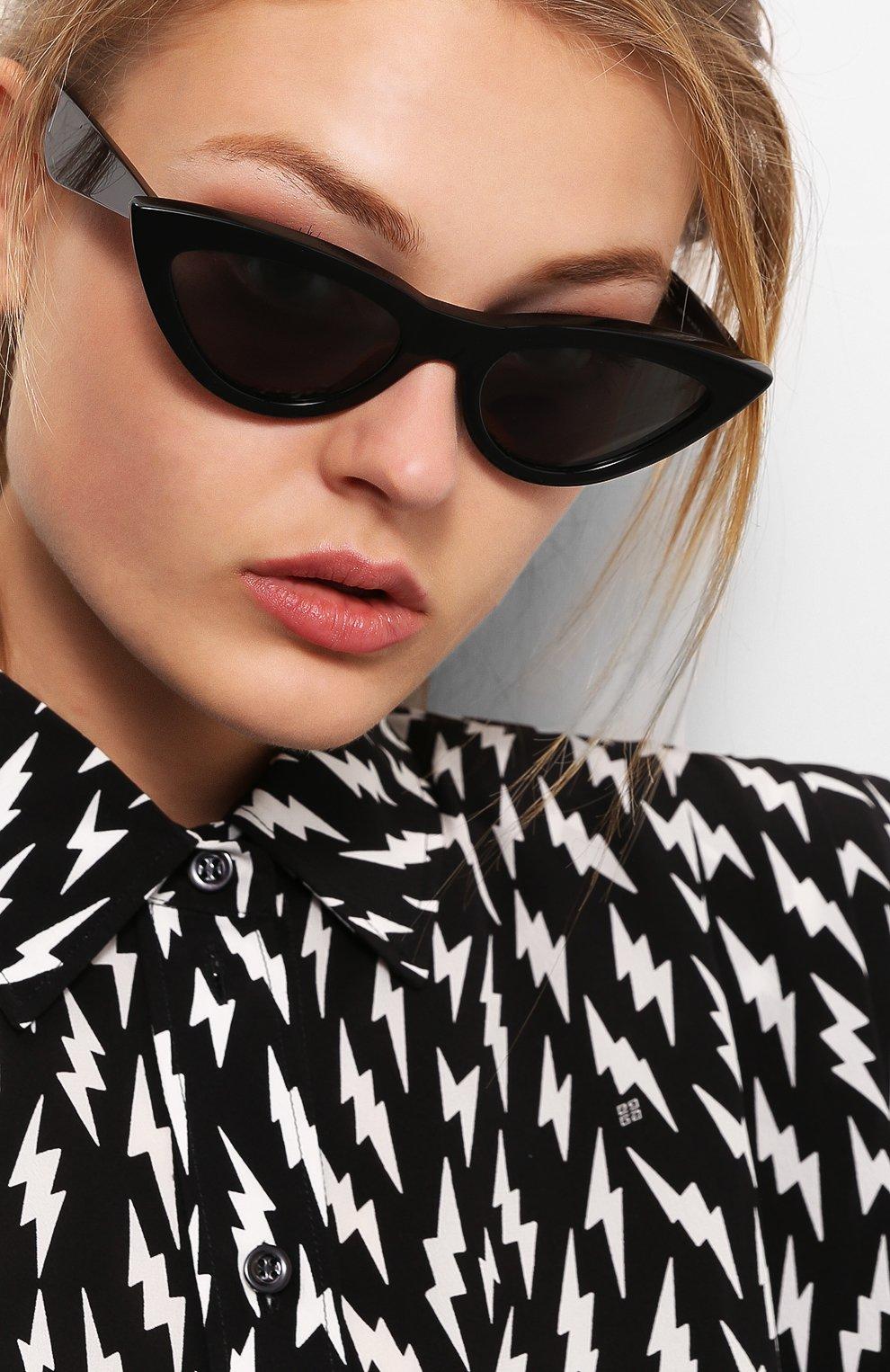 Женские солнцезащитные очки CELINE EYEWEAR черного цвета, арт. CL40019I 01N   Фото 2