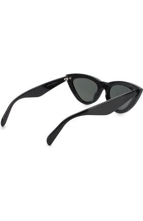 Женские солнцезащитные очки CELINE EYEWEAR черного цвета, арт. CL40019I 01N   Фото 4