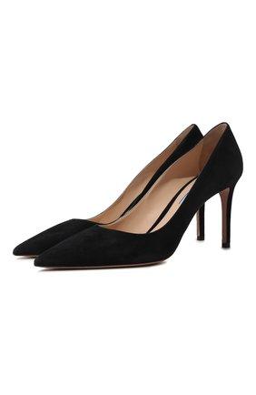 Замшевые туфли на шпильке | Фото №1