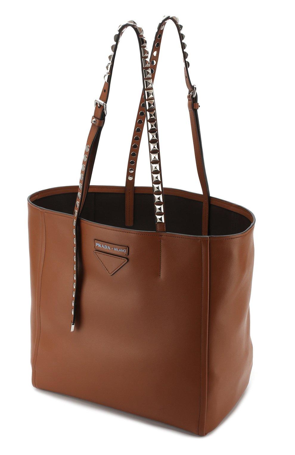 Женская сумка-шоппер concept PRADA коричневая цвета — купить за ... 734346aeb2f9f