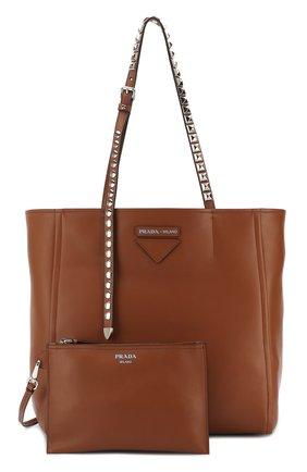 f3aafd77b183 Женская сумка-шоппер concept PRADA коричневая цвета — купить за ...