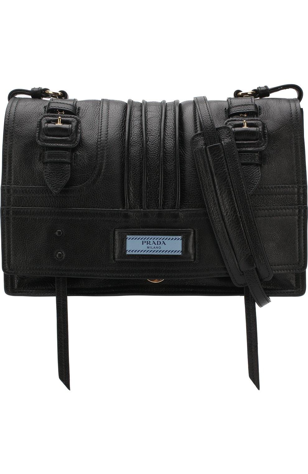 34b35546b291 Женская сумка etiquette PRADA черная цвета — купить за 168500 руб. в ...