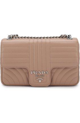 Женская сумка diagramme PRADA бежевого цвета, арт. 1BD108-2D91-F0236-COI | Фото 1