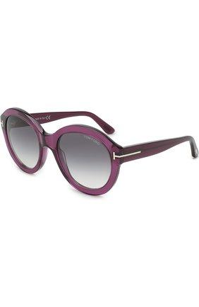 Солнцезащитные очки Tom Ford фиолетовые | Фото №1