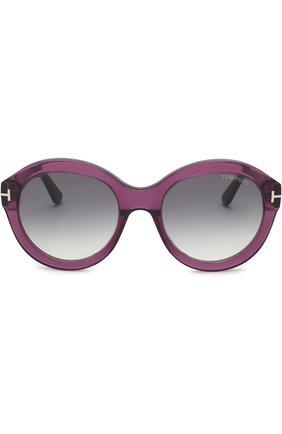 Солнцезащитные очки Tom Ford фиолетовые | Фото №2