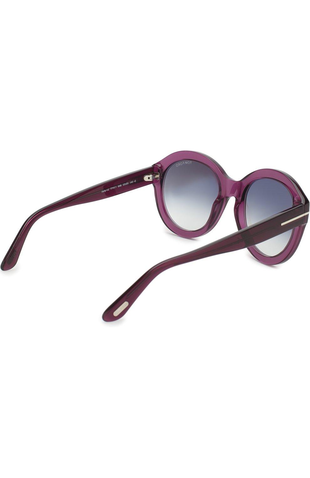 Солнцезащитные очки Tom Ford фиолетовые | Фото №3