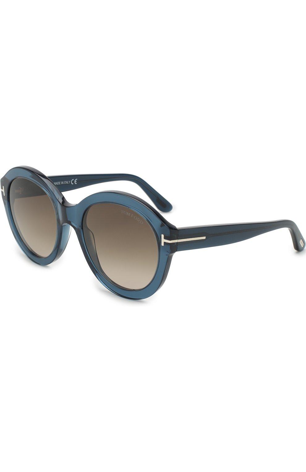 Женские солнцезащитные очки TOM FORD голубого цвета, арт. TF611 | Фото 1