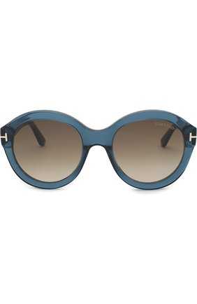 Женские солнцезащитные очки TOM FORD голубого цвета, арт. TF611 | Фото 2