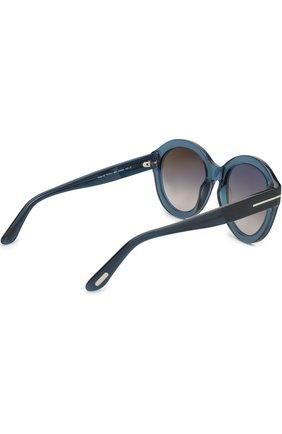 Женские солнцезащитные очки TOM FORD голубого цвета, арт. TF611 | Фото 3
