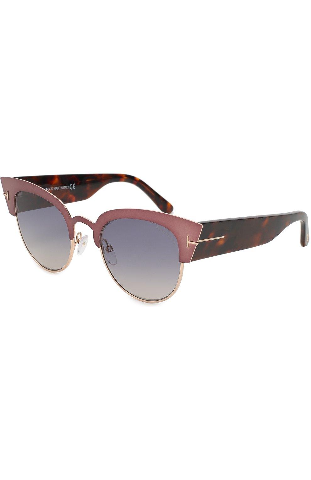 Женские солнцезащитные очки TOM FORD бронзового цвета, арт. TF607 | Фото 1