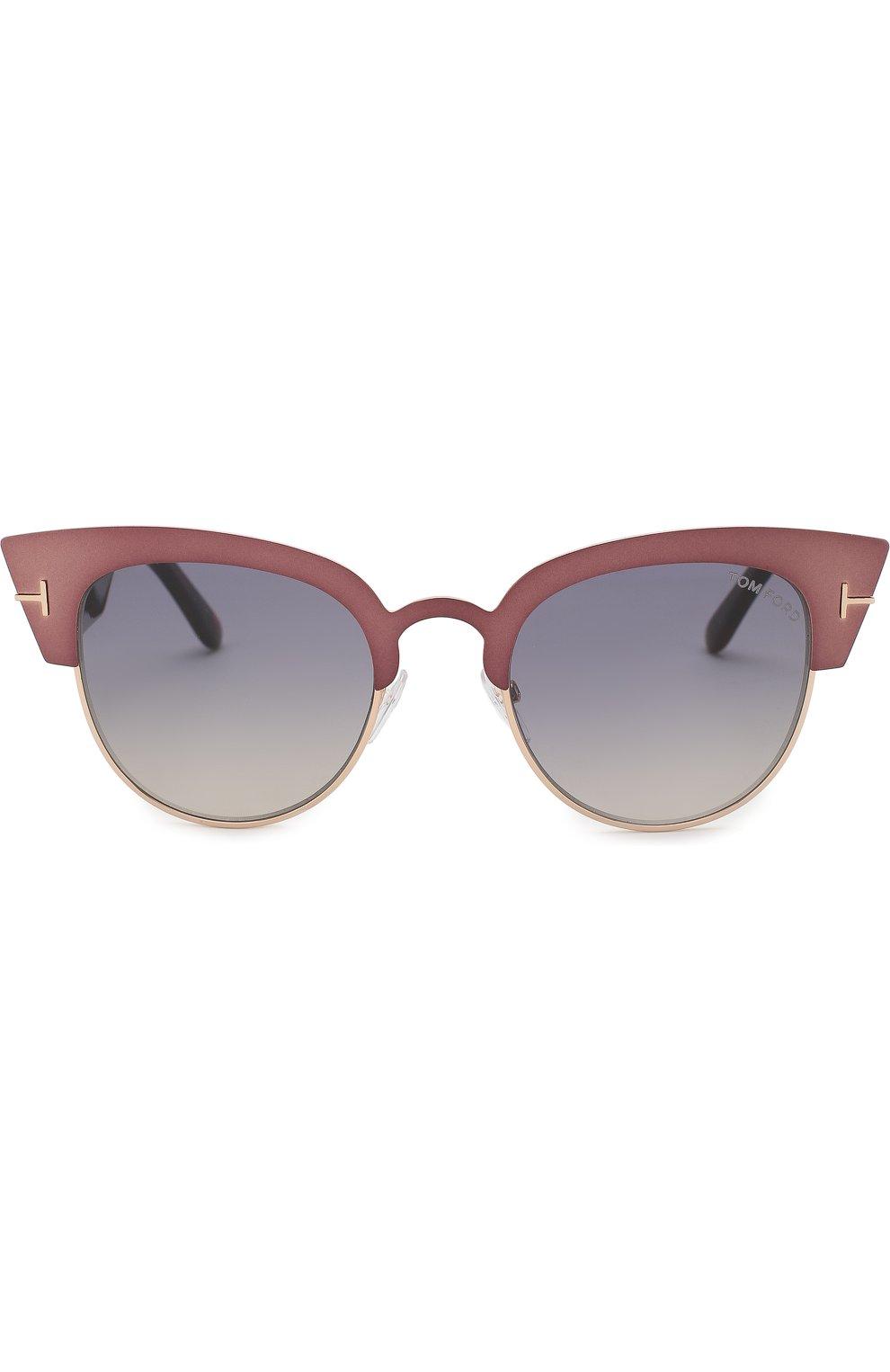 Женские солнцезащитные очки TOM FORD бронзового цвета, арт. TF607 | Фото 2